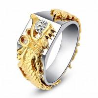 Dragon Pattern Finger Ring US # 6