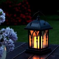 Decorative Solar Lamp with Warm Yellow LED